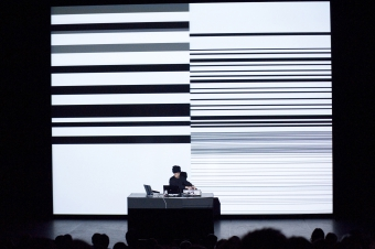 """Picture of """"Test Pattern"""", performance by Ryoi Ikeda"""