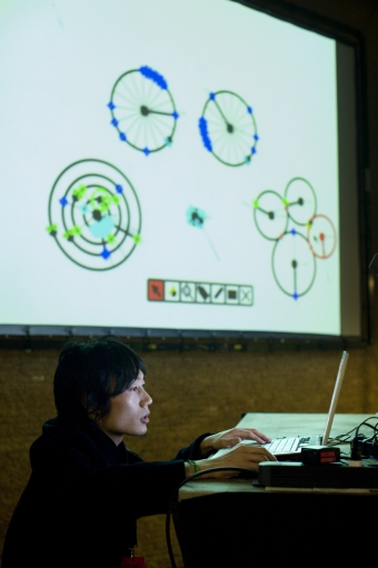 """Picture of """"Overbug"""", performance by and with Hiroshi Matoba"""