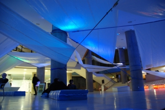 Foyer of Haus der Kulturen der Welt during transmediale.09 DEEP NORTH