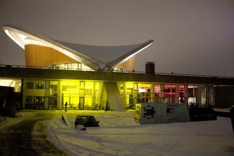 Exterior view of Haus der Kulturen der Welt during transmediale 2014 afterglow