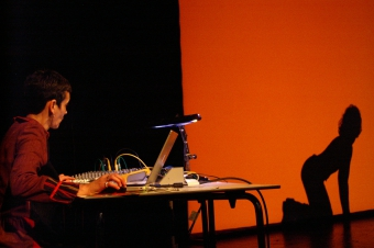 Resonant Memory Traces, performed at transmediale 2007.