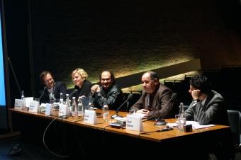 """Media Landscape in Iraq"", panel at transmediale 2007."