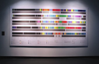"""""""Timelines"""" by Ellie Harrison exhibited at """"Time and Motion: Redefining Working Life"""", transmediale 2015 CAPTURE ALL."""