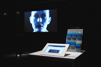 """""""Invisible"""" by Heather Dewey-Hagborg, exhibited at transmediale 2015 CAPTURE ALL."""