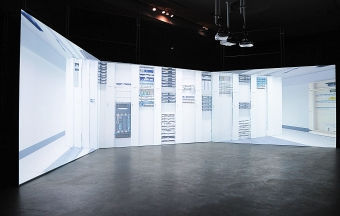 """""""Internet Machine"""", multi-screen film by Timo Arnall, exhibited at transmediale 2015 CAPTURE ALL."""