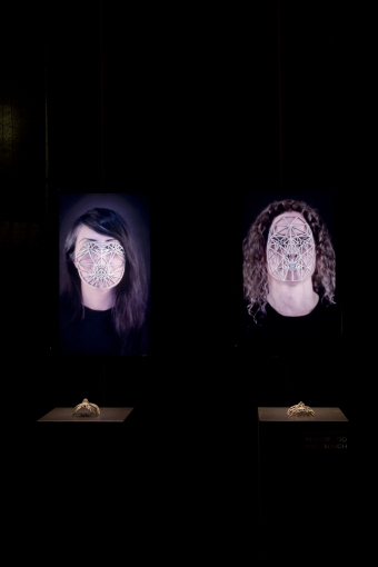 Face Cages by Zach Blas, exhibited at transmediale 2015 CAPTURE ALL.