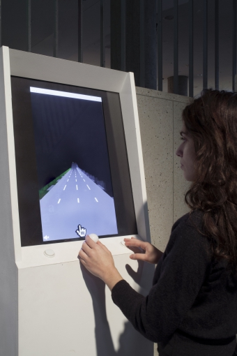 The Internet . Express, installation by Jonas Lund, exhibited at transmediale 2018 face value
