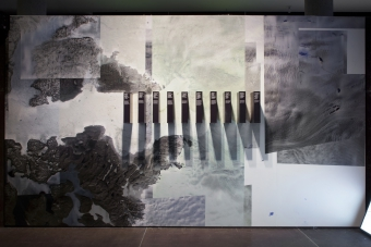 """Sprawling Swamps by Femke Herregraven, part of the exhibition """"Territories of Complicity"""" shown at transmediale 2018 face value."""