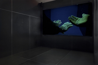 """Europium by Lisa Rave, shown in the exhibitions """"Territories of Complicity"""" at transmediale 2018 face value."""
