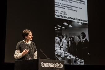 Doreen Mende during the panel Building Archives for Evidence and Collective Resistance