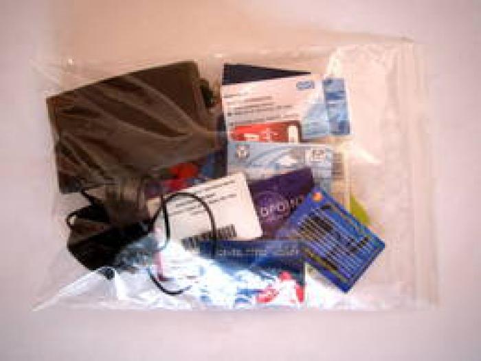 Identity bag, Photo: Heath Bunting