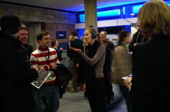 Christophe Bruno & Manon Kahle: Human Browser, Berlin session at Akademie der Ku