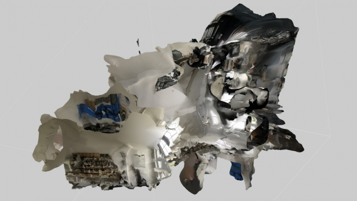 Pete Jiadong Qiang, Vampire Squid 208, Screenshot of 3D scan of the Vilém Flusser Archive, Berlin, Germany, 2020