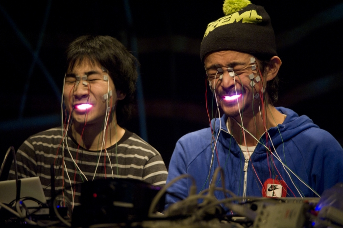 """Picture of """"FACE VISUALIZER"""", performance by Daito Manabe with Ei Wada"""