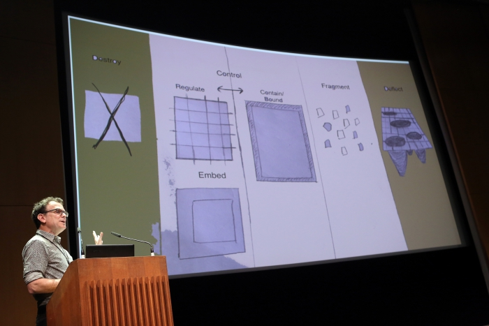 """Robert Latham at """"Friendly Fire: What Is It to Re-think Radical Politics, Today?"""", transmediale 2017"""