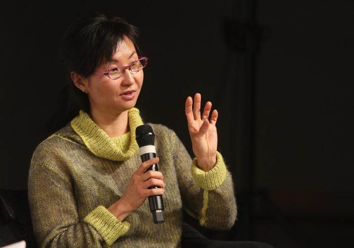 """Wendy Hui Kyong Chun at """"Middle Session: The Middle to Come"""", transmediale 2017"""