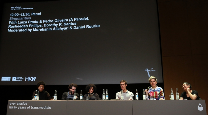 """Impression of the panel """"Singularities"""", transmediale 2017"""
