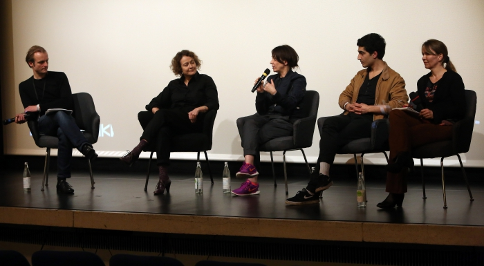 """Q&A after the screening """"PANORAMIS PARAMOUNT PARANORMAL"""", transmediale 2017 ever elusive."""