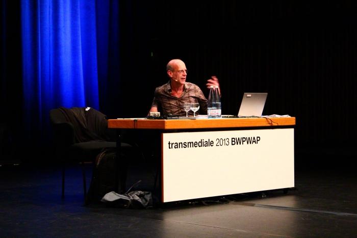 """Geert Lovink at """"BWPWAP Networks"""", transmediale 2013 BWPWAP."""