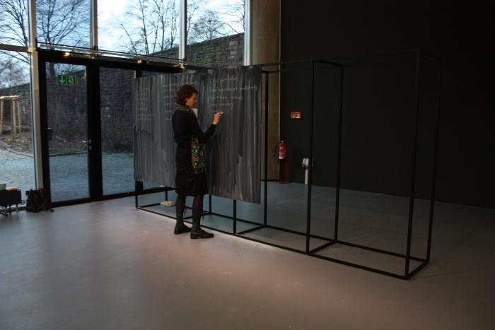 Blackboard Intervention by Olga Goriunova, transmediale 2013 BWPWAP.