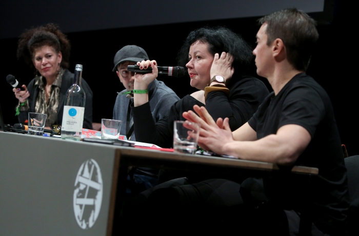 """Panelists of """"The Many Faces of Fascism"""" at transmediale 2018 face value"""