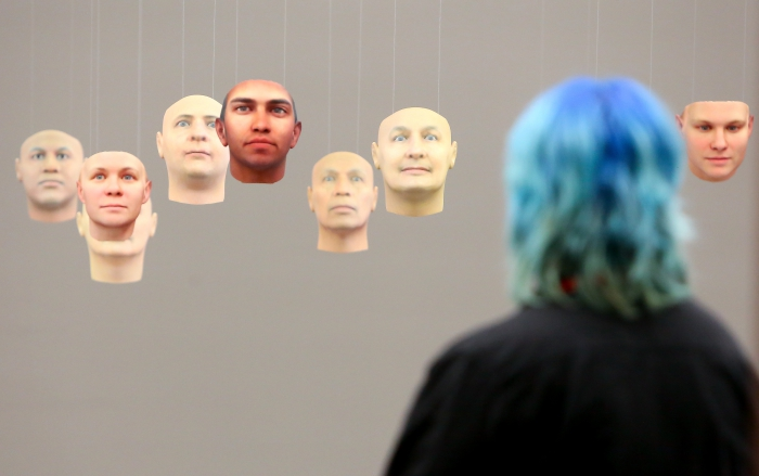A Becoming Resemblance by Heather Dewey-Hagborg and Chelsea Manning, exhibited at transmediale 2018